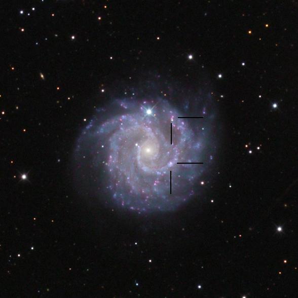 NGC3180 and NGC3181 HII regions