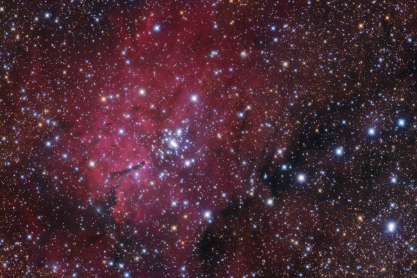 NGC6820 emission nebula and NGC6823 open cluster